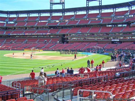 busch stadium section 165 busch stadium section 165 seat views seatscore rateyourseats