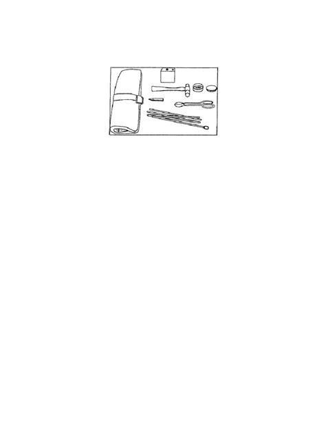 figure repair kit field supplies