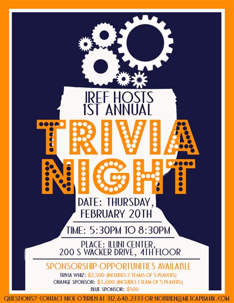 trivia night flyer idea yep i m a trainer pinterest