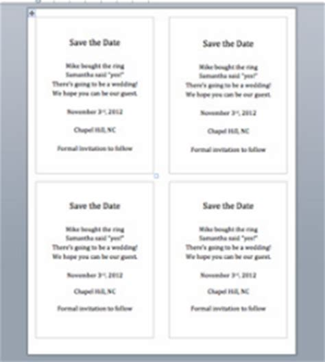 brief for the save the date word template in steps