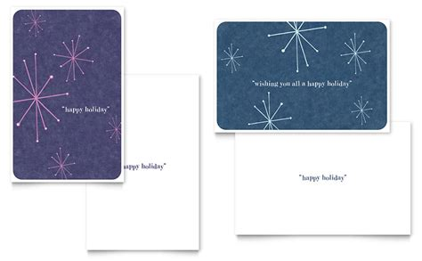 microsoft greeting card template snowflake wishes greeting card template word publisher