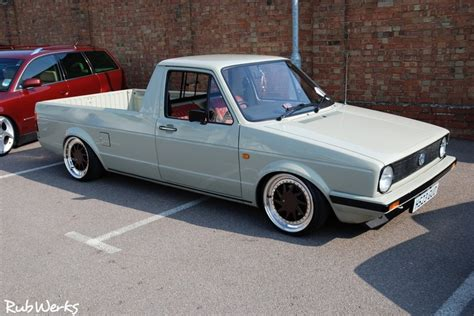 volkswagen truck slammed slammed vw rabbit pick up quot caddy quot sick vw pinterest