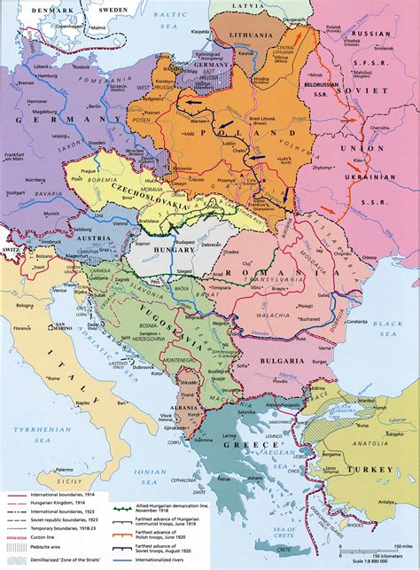 central europe map maps