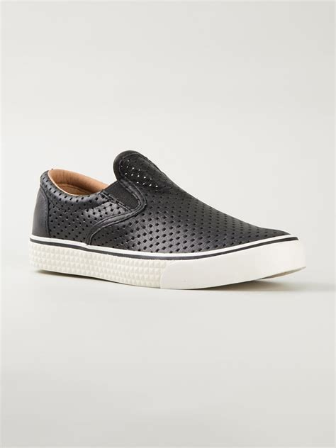 on sneakers diesel vansis w slip on sneakers in black lyst