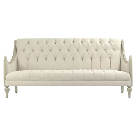 sectional dining bench livia french country tufted linen grey wash cream cotton