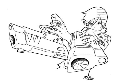 soul eater coloring pages az coloring pages