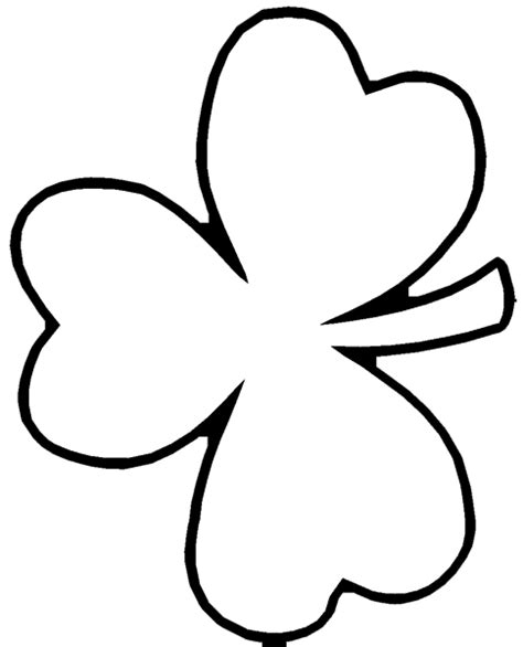 Shamrock Outline Clipart shamrock outline printable clipart best cliparts co