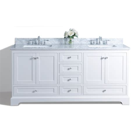double bathroom vanities lowes shop ancerre designs audrey white undermount double sink