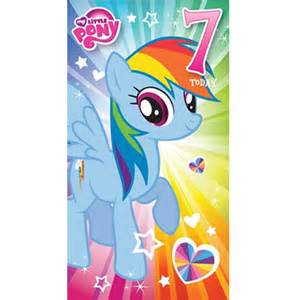 my pony 7 today 7th birthday card mp014 character brands