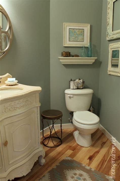 powder room take two 2nd budget makeover reveal toilets paint colors and empty frames