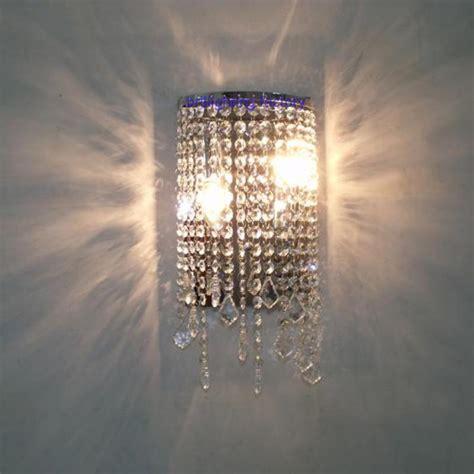 bathroom crystal wall fixtures modern crystal wall light
