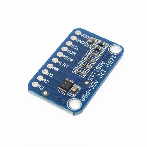 16bit I2c Ads111s Module Adc 4 Channel With Pro Gain Lifier Ardui 16 bit i2c ads1115 module adc 4 channel with pro gain lifier for arduino rpi 1pcs in