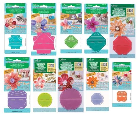 Clover Templates Flowers clover kanzashi flower maker craft template select your