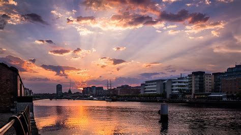 sunset dublin ireland cityscape photography flickr