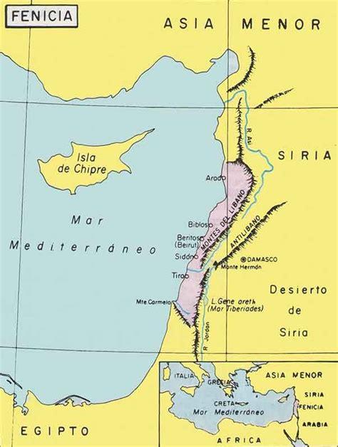 historia antigua mapa cultura fenicia historia universal antigua