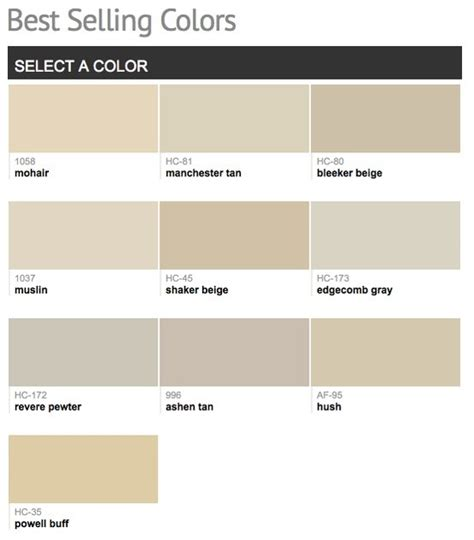 Best Selling Paint Colors | best selling popular paint colors from benjamin moore