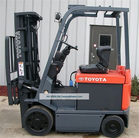 Toyota Electric Forklift Toyota Electric Forklift Specifications