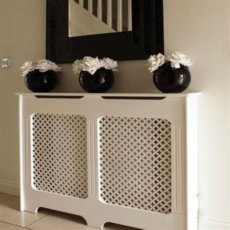 modern interior decorating with colorful radiators and