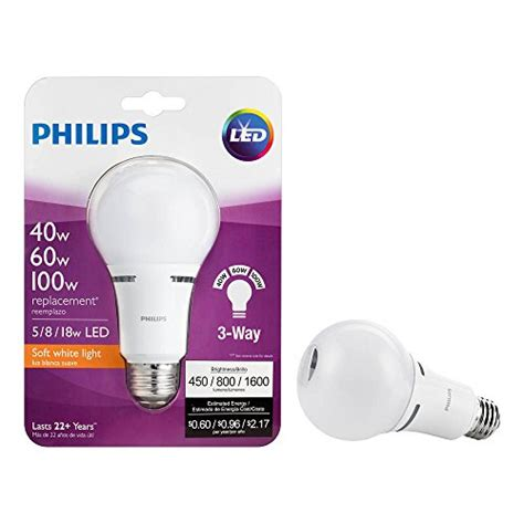 Lu Sorot Led 100 Watt Philips philips led 3 way a21 frosted light bulb 1600 800 450