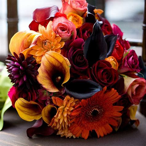 fall flowers wedding songbirdblog com
