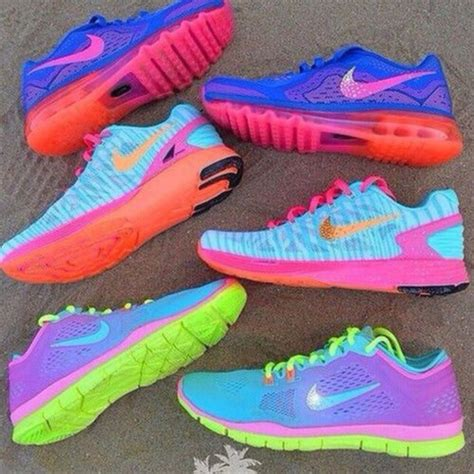 bright colored nike shoes shoes pretty shoes bright sports shoes workout neon