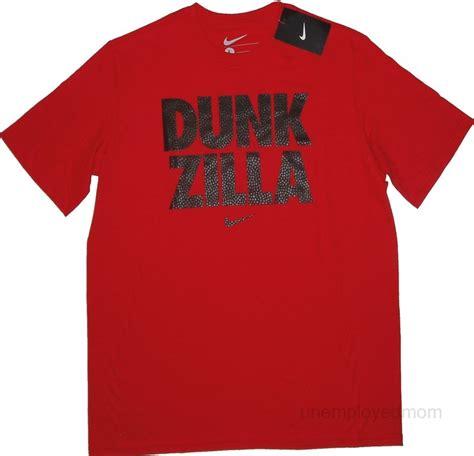 Nike Dunk Zilla Merah nike t shirt sports youth boys sayings athletic top childrens bts ebay