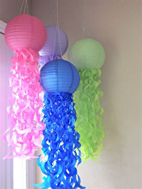 How To Make Paper Lantern Fish - jellyfish paper lanterns set of 4 by createitgirl on etsy
