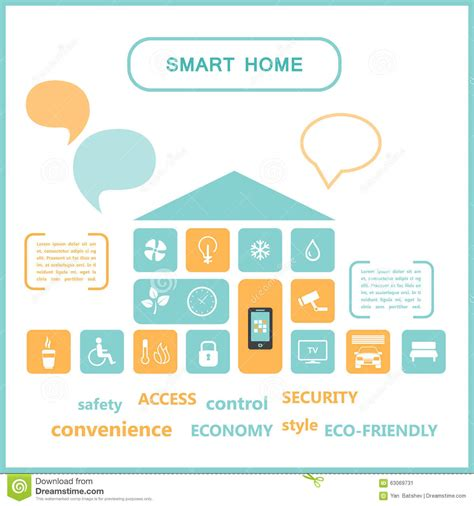 smart home engineering illustration stock vector image
