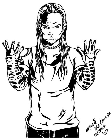 wwe coloring pages of jeff hardy az coloring pages