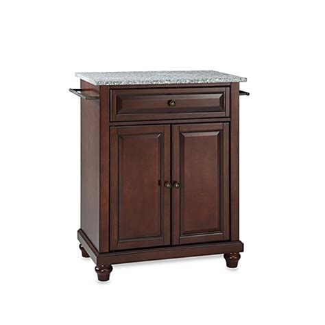 crosley cambridge granite top portable kitchen island