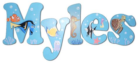 Finding Nemo Crib Bedding Swimming With Nemo Hanging Letters