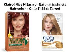 clairol nice n easy hair color only 2 50 at walgreens target clairol nice n easy or natural instincts hair color