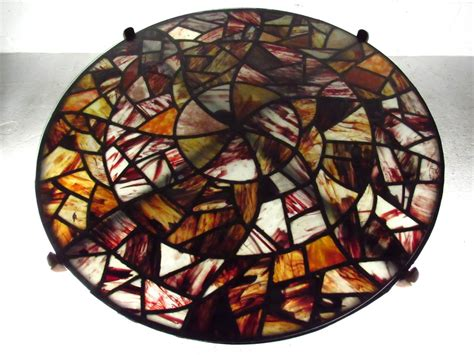 Stained Glass Coffee Table Mid Century Modern Walker Stained Glass Coffee Table