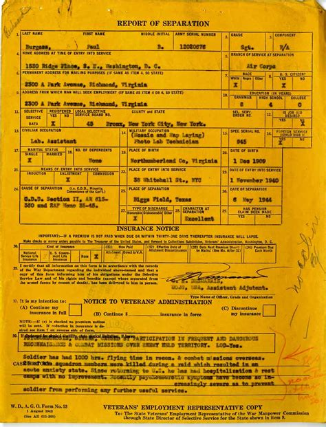 Records Notices Blood Brothers The Virginia World War Ii Separation Notices