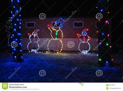 zootastic park christmas wonderland lights christmas snowmen stock photo image 63170671