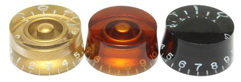Choosing the correct knob for your guitar or bass