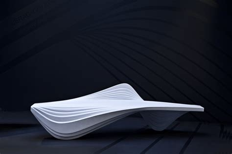 zaha hadid bench serac bench for lab 23 zaha hadid architects arch2o com