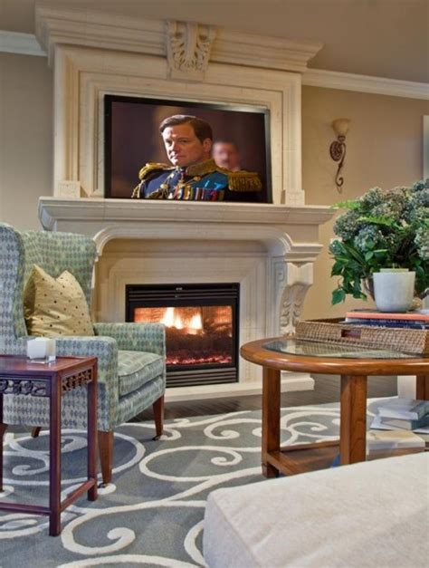 living room with tv and fireplace tv over fireplace for the home living rooms pinterest