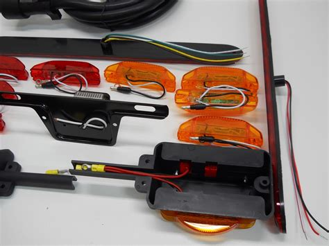 trailer brake light kit led 80 quot trailer marker brake turn light kit