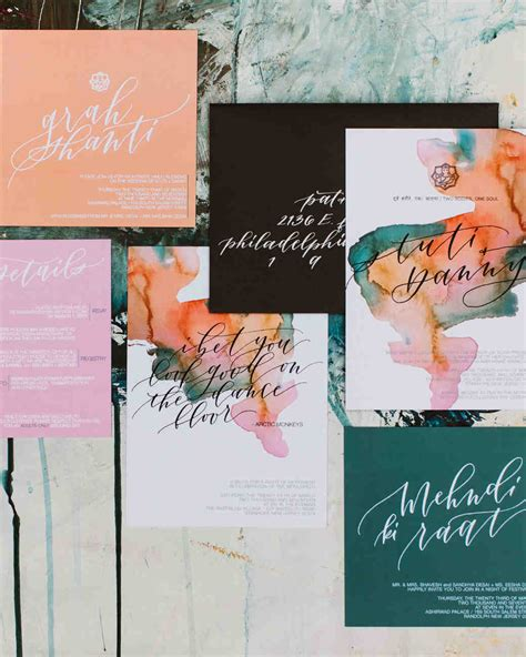 painted wedding invitations martha stewart 30 modern wedding invitations we martha stewart