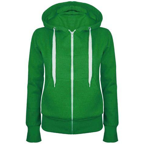 Jaket Hoodie womens plain hoody zip up top hoodies sweatshirt jacket plus size 6 22 ebay