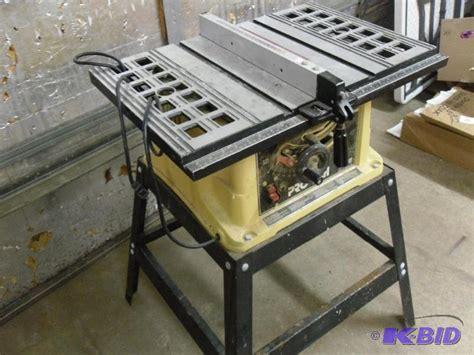 pro tech bench saw pro tech 10 quot table saw model hahn customs