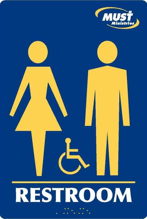 ada bathroom sign signs atlanta ada restroom signs custom and standard