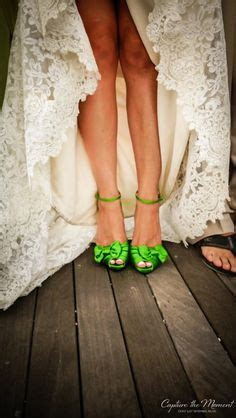 Wedding Green Shoes by Purple And Green Modern Miami Wedding Modern Miami
