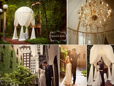 stunning outdoor chicago wedding venue covered  ivy