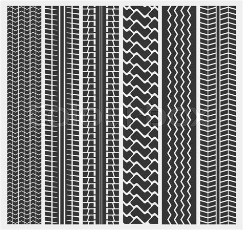 texture tire pattern set of multiple car tire or motorcycle truck tyre