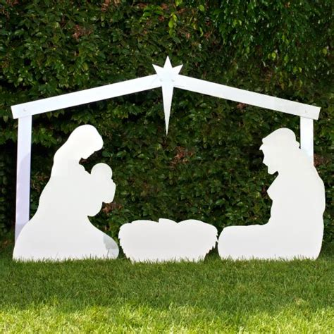 christmas decor large silhouette outdoor christmas