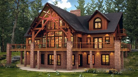 home picture hybrid log and timber frame style in the copper house