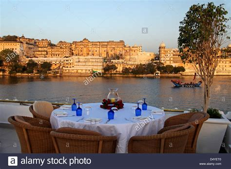 Hotel India Asia asia india udaipur table setting on rooftop restaurant