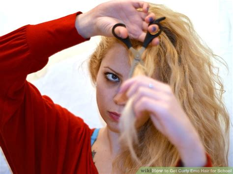 step by step emo haircut how to get curly emo hair for school 6 steps with pictures